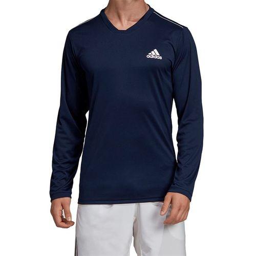 adidas UV Protect Long Sleeve Shirt - Collegiate Navy/White