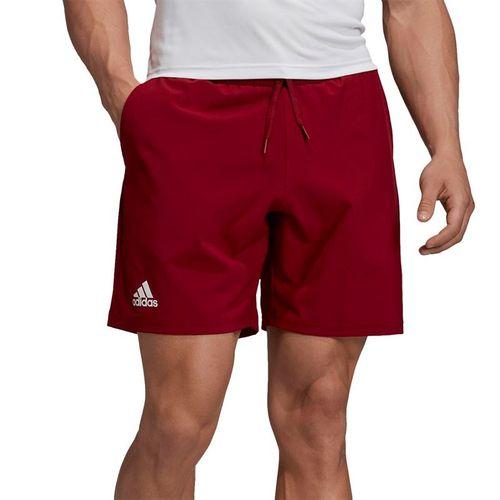 adidas Club 7 inch Short - Collegiate Burgundy/Hi Res Coral