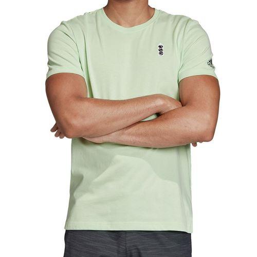 adidas NY Graphic Tee Shirt Mens Glow Green ED6193