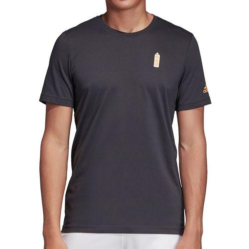 adidas NY Graphic Tee Shirt Mens Carbon ED6194