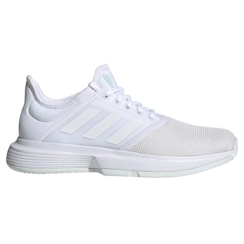 adidas Game Court Womens Tennis Shoe - White/Blue Tint