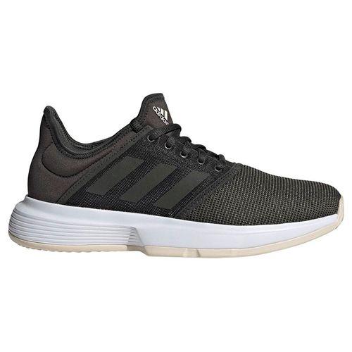 adidas Game Court Womens Tennis Shoe - Legend Earth/Linen