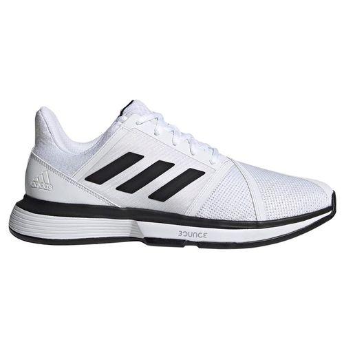 adidas Court Jam Bounce Wide Mens Tennis Shoe - White/Black/Matte silver