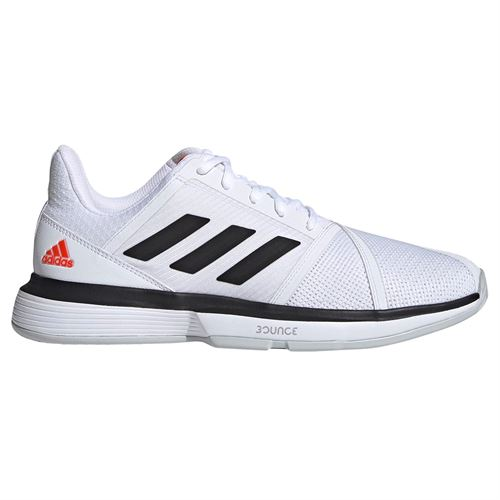 adidas Court Jam Bounce Mens Tennis Shoe - White/Black/Light Grey