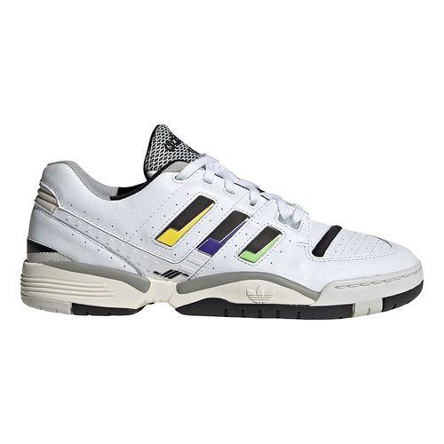 adidas Torsion Comp Mens Tennis Shoe - White/Core Black/Cream White