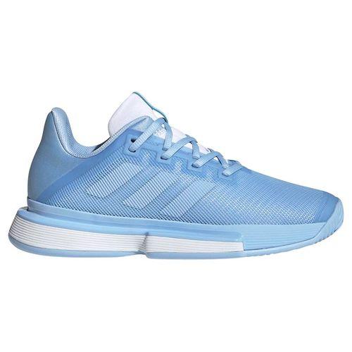 adidas Sole Match Bounce Womens Tennis Shoe - Glow Blue/White