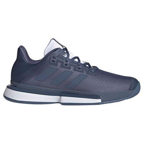 adidas Sole Match Bounce Mens Tennis Shoe - Tech Ink/White