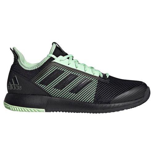 adidas adizero Defiant Bounce 2 Womens Tennis Shoe - Black/Glow Green