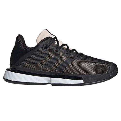adidas Sole Match Bounce Womens Tennis Shoe - Core Black/Linen