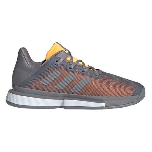 adidas Sole Match Bounce Mens Tennis Shoe - Grey Three/Flash Orange
