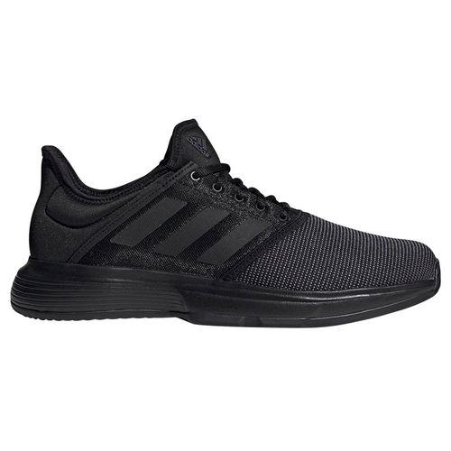 adidas Game Court Mens Tennis Shoe - Black