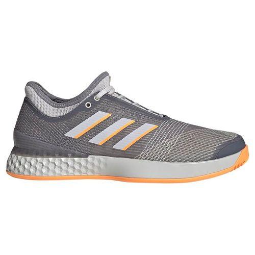 adidas Adizero Ubersonic 3 Mens Tennis Shoe - Grey Three/Grey One/Flash Orange