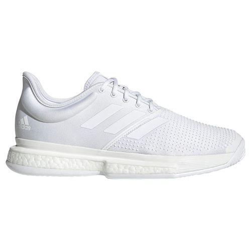 adidas Sole Court Boost Parley Mens Tennis Shoe - White/Black