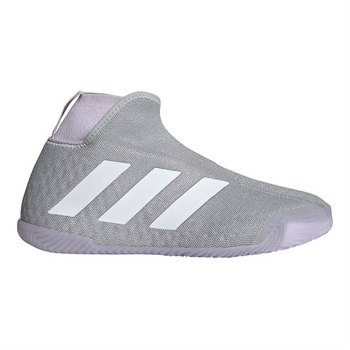 adidas Stycon Womens Tennis Shoe Grey Two/White/Purple Tint EF2696