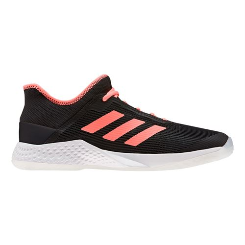 adidas Adizero Club Mens Tennis Shoe Core Black/Signal Coral/White EF2771