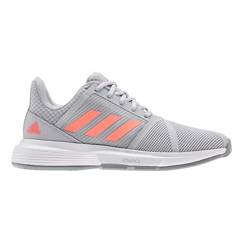 adidas Court Jam Bounce Womens Tennis Shoe Grey Two/Signal Coral/Grey Three EG1138