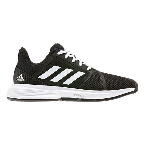 adidas Court Jam Bounce Womens Tennis Shoe Core Black/White/Matte Silver EG1139