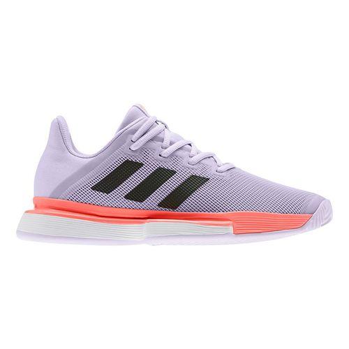 adidas Sole Match Bounce Womens Tennis Shoe Purple Tint/Core Black/Signal Coral EG2218
