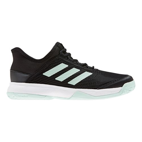 adidas Adizero Club Junior Tennis Shoe Core Black/Dash Green/White EH1106