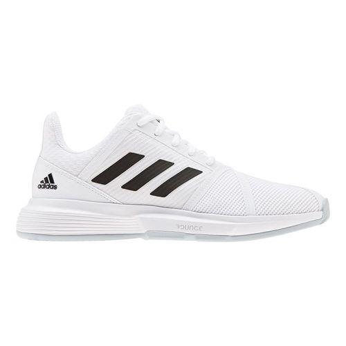 adidas Court Jam Bounce Wide Womens Tennis Shoe White/Core Black/Matte Silver EH2943