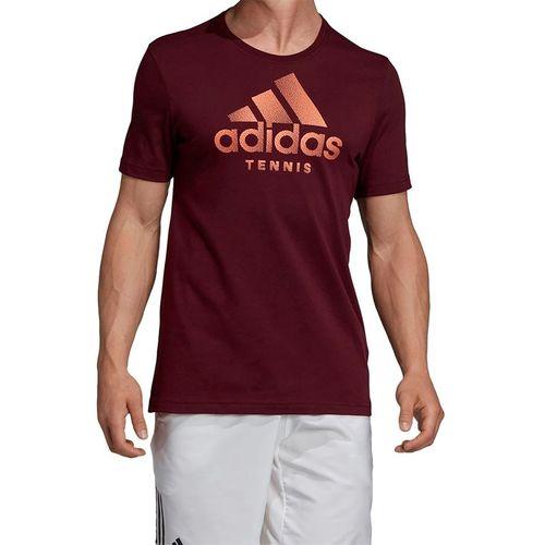 adidas Logo Tee Shirt - Maroon