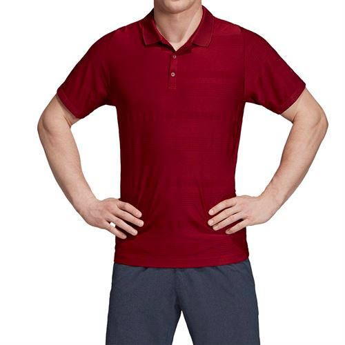 adidas Match Code Polo - Collegiate Burgundy