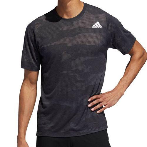 adidas Camo Burnout Tee Shirt Mens Black EJ7228
