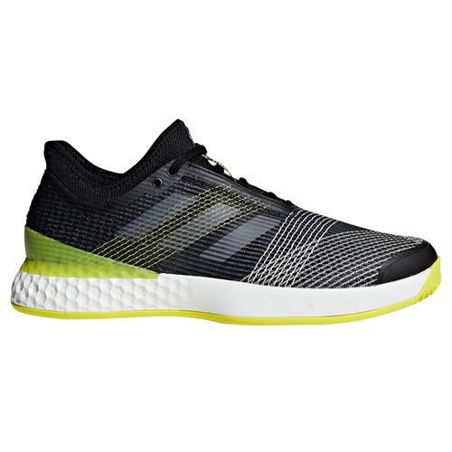 best sneakers 505f2 32f62 adidas adiZero Ubersonic 3 Mens Tennis Shoe - BlackWhiteYellow