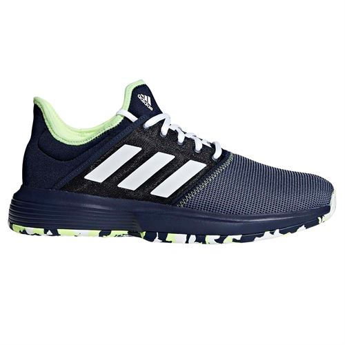 size 40 f7bf8 835b5 adidas Game Court Multicourt Mens Tennis Shoe - Collegiate Navy White Hi  Res Yellow