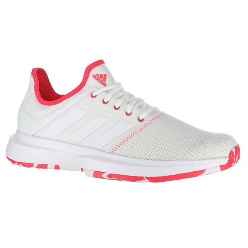 2b3abee71e0 adidas Game Court Multicourt Womens Tennis Shoe - White/Shock Red