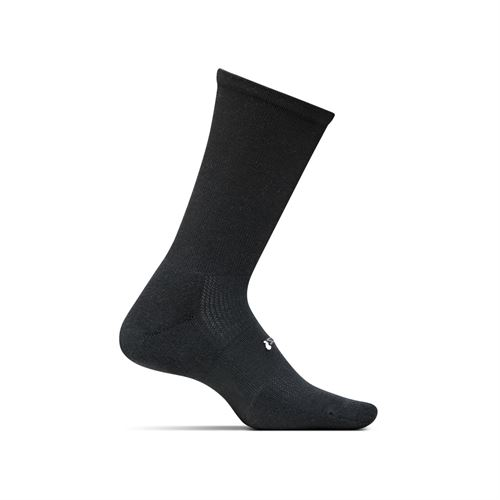 Feetures Cushion Crew Sock - Black