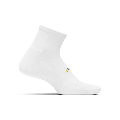 Feetures Cushion Quarter Sock - White
