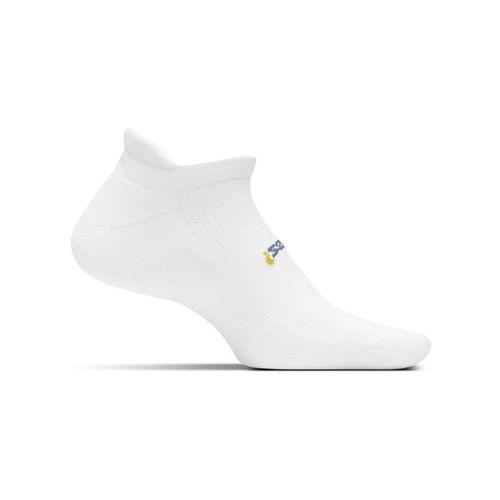 Feetures No Show Tab Sock - White