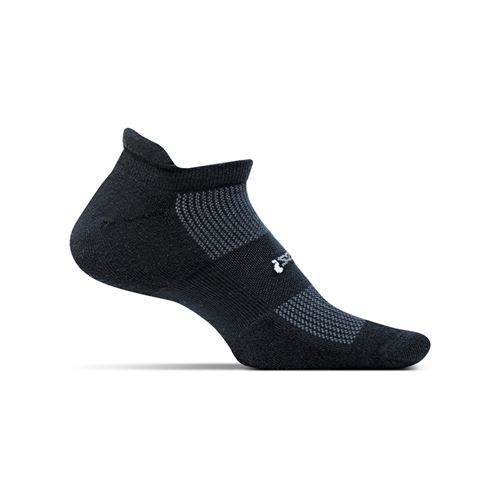 Feetures No Show Tab Sock - Black