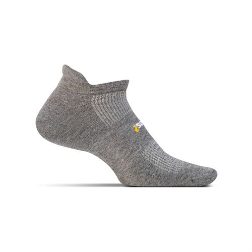 Feetures No Show Tab Sock - Heather Grey