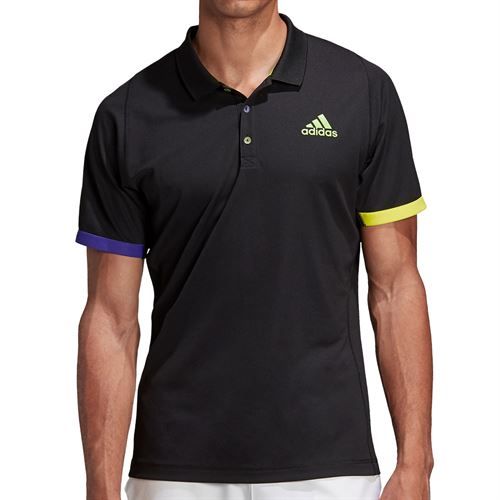 adidas Ltd Edition Polo Shirt Mens Black/Semi Solar Green FI8186