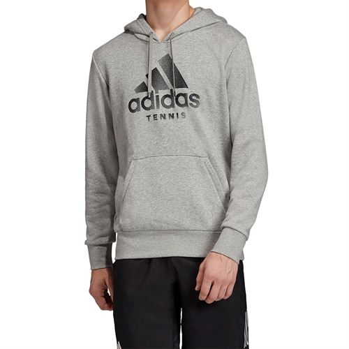adidas Logo Hoodie - Medium Grey Heather