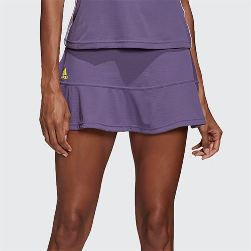 adidas Match Skirt Womens Tech Purple/Shock Yellow FK0753