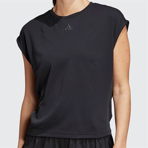 adidas Tee Shirt Womens Black/Night Metallic FK0759