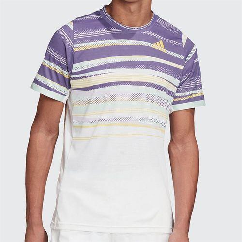 adidas Tee Shirt Mens White/Shock Yellow FK0802