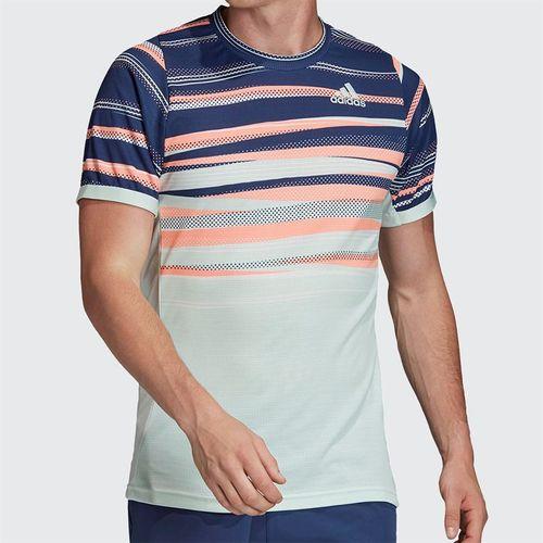 adidas Tee Shirt Mens Dash Green/Tech Indigo FK0803