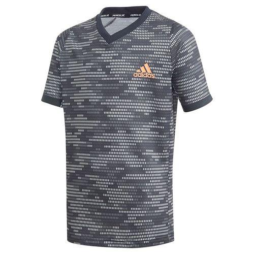 adidas Boys Primeblue Tee Shirt Black/True Orange FK7143