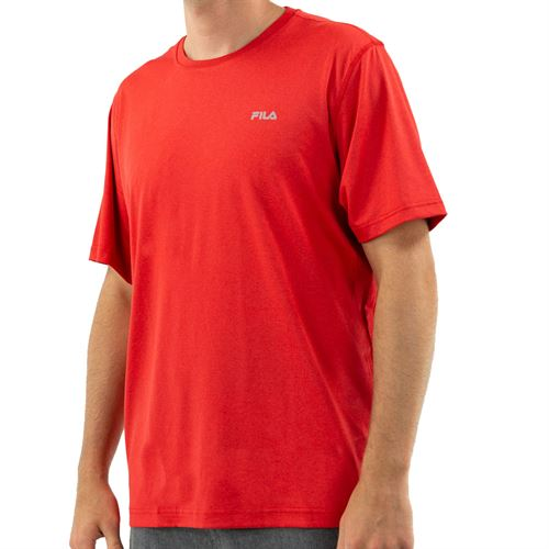 Fila Short Sleeve Performance Crew - Chinese Red