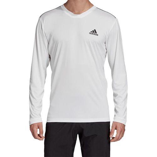 adidas UV Protect Long Sleeve Shirt Mens White/Black FM2542