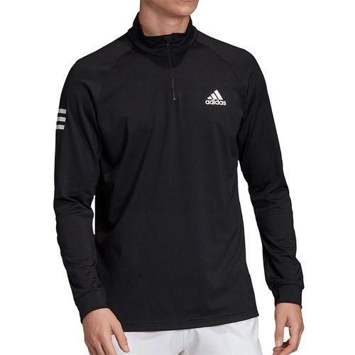 adidas Club Midlayer 1/4 Zip Mens Black/White FM2544