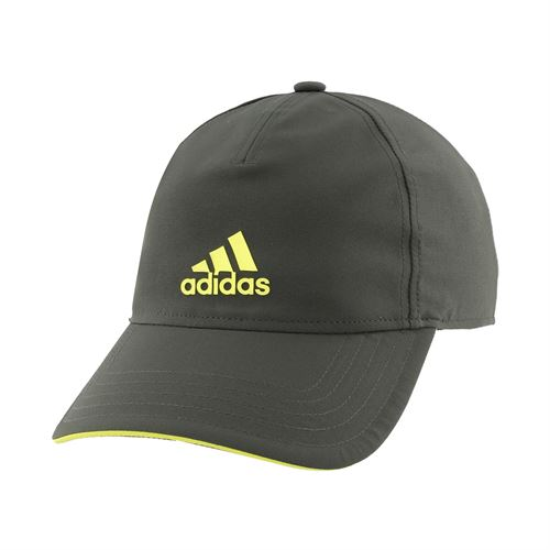 adidas Tennis 4AT Aeroready Hat - Legend Earth/Shock Yellow