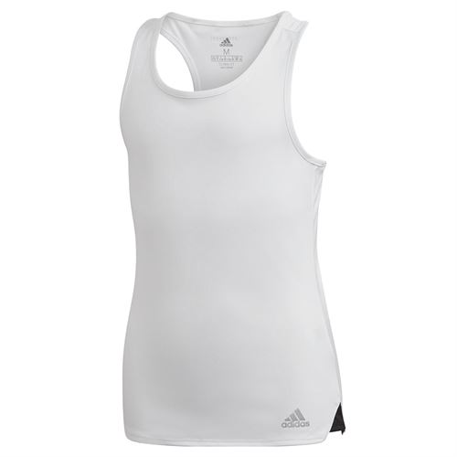 adidas Girls Club Tank White/Matte Silver/Black FQ2641