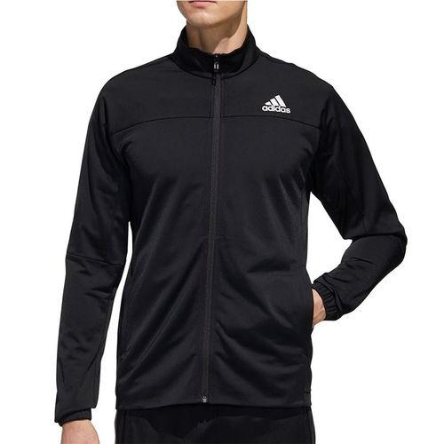 adidas 3-Stripe Knit Tennis Jacket Mens Black FS3771