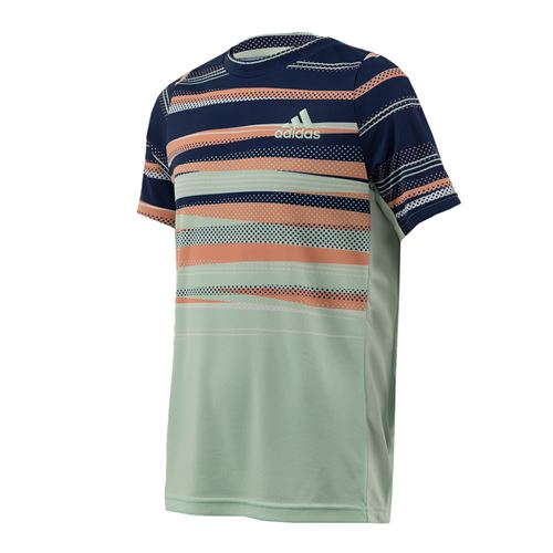 adidas Boys Crew Neck Shirt Tech Indigo/Dash Green/Chalk Coral FS9251