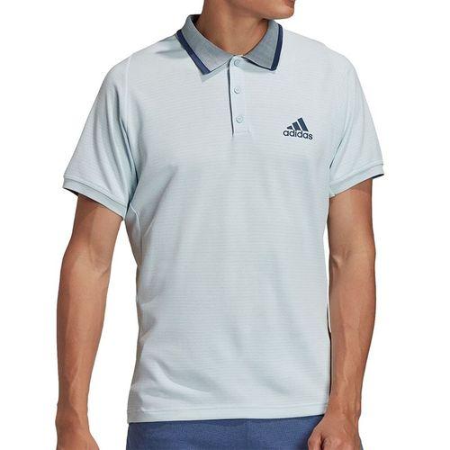 adidas Freelift Tennis Polo Shirt Mens Sky Tint/Tech Indigo FT6113